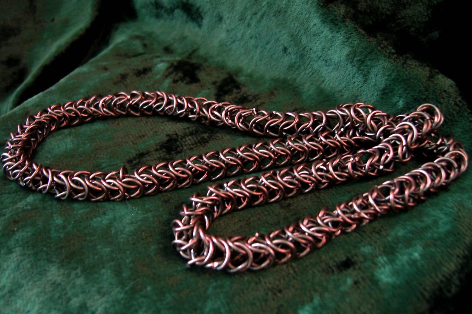 Полуперсидское плетение цепочки схема